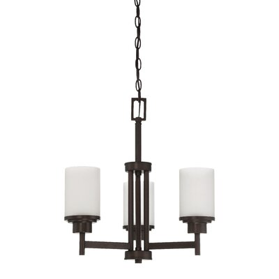 Somes 3-Light Shaded Chandelier Finish: Provincial Bronze