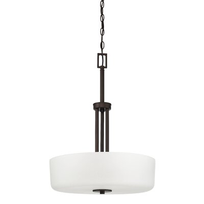 Somes 3-Light Drum Pendant Base Finish: Provincial Bronze