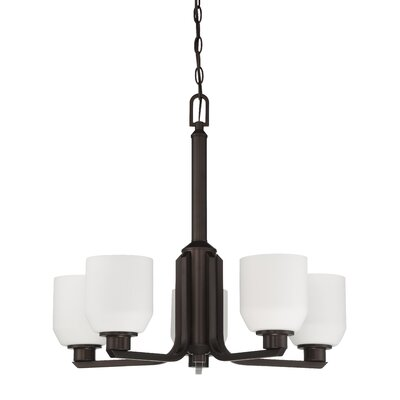 Quartz 5-Light Shaded Chandelier Finish: Provincial Bronze