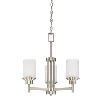 Somes 3-Light Shaded Chandelier Finish: Bright Satin Nickel