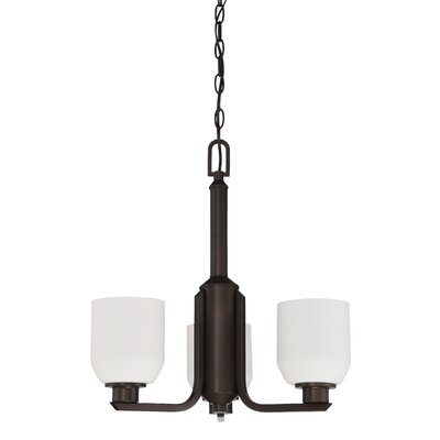 Quartz 3-Light Shaded Chandelier Finish: Provincial Bronze