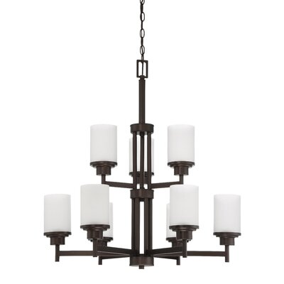 Somes 9-Light Shaded Chandelier Finish: Provincial Bronze