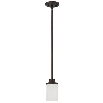 Somes 1-Light Mini Pendant Base Finish: Provincial Bronze