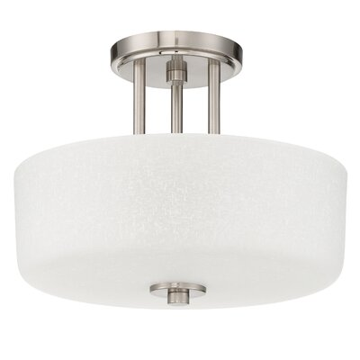 Somes 3-Light Semi Flush Mount Base Finish: Bright Satin Nickel