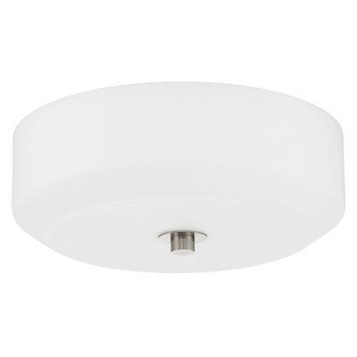 Quartz 3-Light Flush Mount Base Finish: Bright Satin Nickel