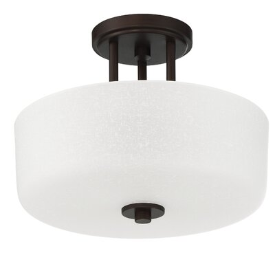 Somes 3-Light Semi Flush Mount Base Finish: Provincial Bronze