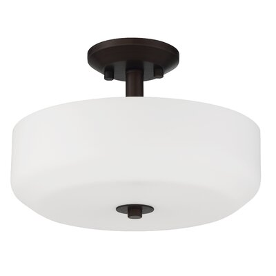 Quartz 3-Light Semi Flush Mount Base Finish: Provincial Bronze