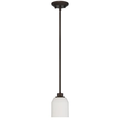 Quartz 1-Light Inverted pendant Base Finish: Provincial Bronze