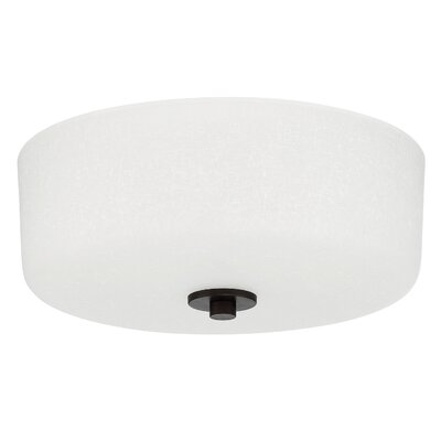 Somes 2-Light Flush Mount Base Finish: Provincial Bronze