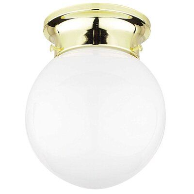 1-Light Flush Mount Finish: Polished Brass