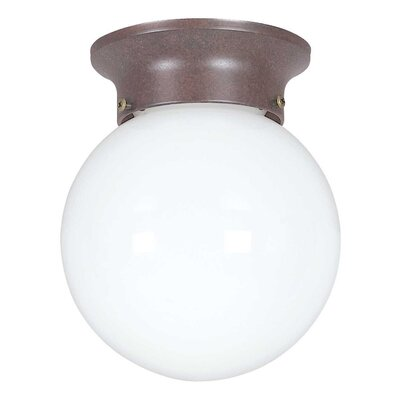 1-Light Flush Mount Finish: Rubbed Bronze