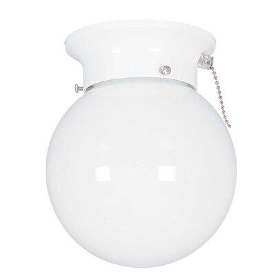 Beckmann 1-Light Flush Mount Finish: White