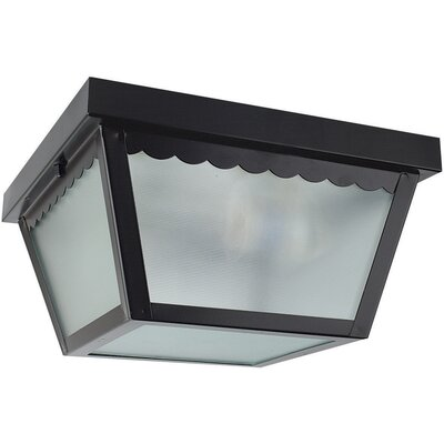 2-Light Flush Mount Finish: Black