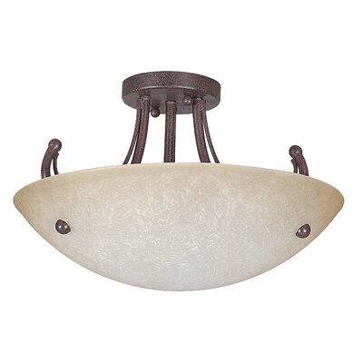 Tempest 3-Light Semi-Flush Mount Finish: Rubbed Bronze