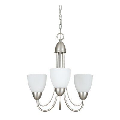 Tempest 3-Light Shaded Chandelier Finish: Satin Nickel