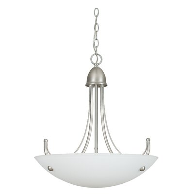 Tempest 3-Light Bowl Pendant Finish: Satin Nickel