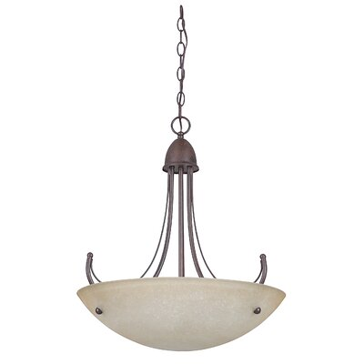 Tempest 3-Light Bowl Pendant Finish: Rubbed Bronze