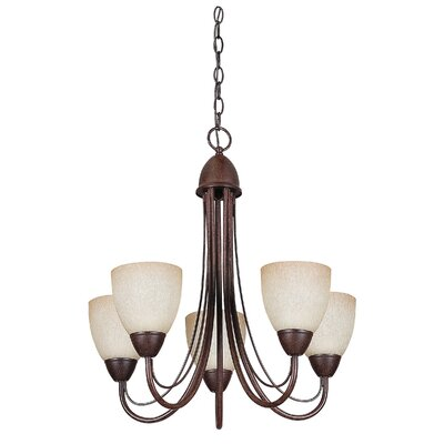 Boutin 5-Light Shaded Chandelier Color: Rubbed Bronze