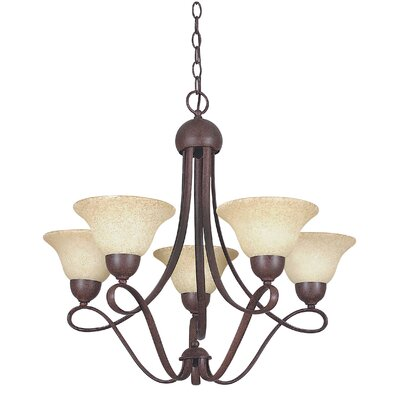 Palisades 5-Light Shaded Chandelier Finish: Rubbed Bronze