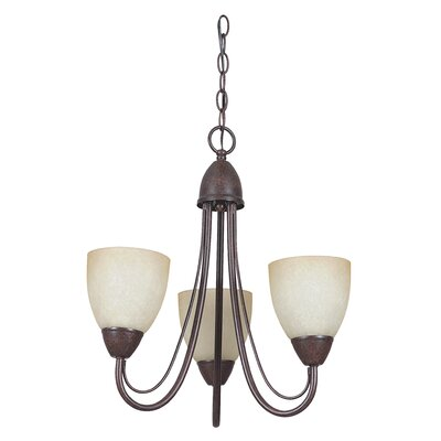 Boutin 3-Light Chain Shaded Chandelier Color: Rubbed Bronze