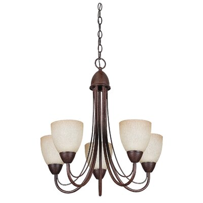 Boutin 5-Light Chain Shaded Chandelier Color: Rubbed Bronze