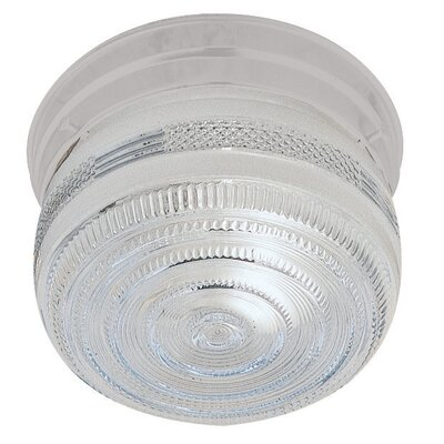 Bechard 1-Light Flush Mount Finish: White
