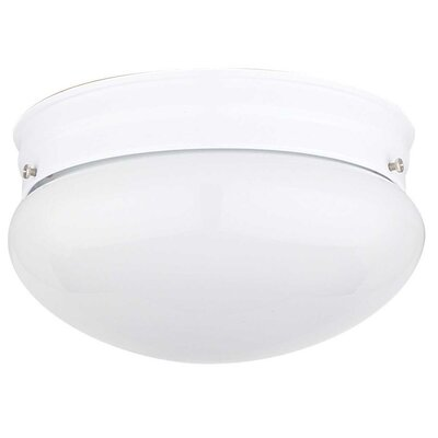 2-Light Flush Mount Finish: Rubbed Bronze