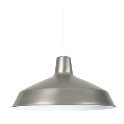 Zavijah 1-Light Bowl Pendant Finish: Satin Nickel