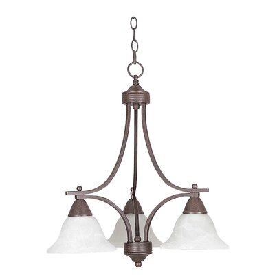 Metropolitan 3-Light Shaded Chandelier Finish: Rubbed Bronze