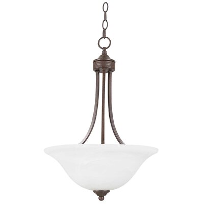3-Light Inverted Pendant Finish: Rubbed Bronze