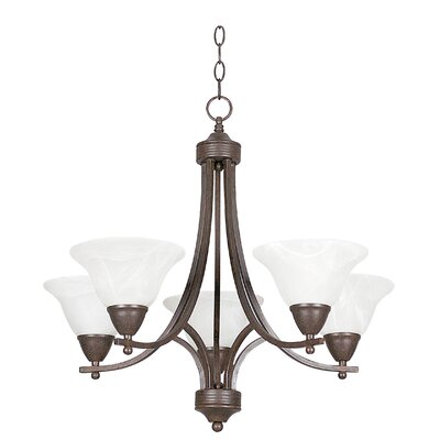 Metropolitan 5-Light Shaded Chandelier Finish: Rubbed Bronze