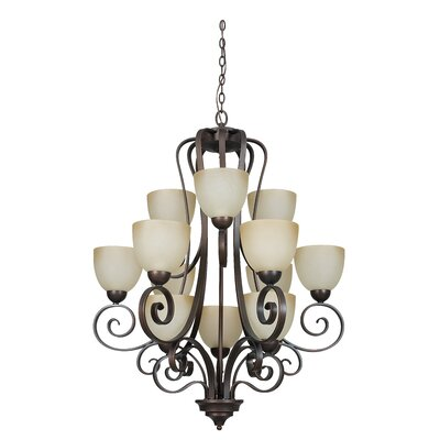 Provano 12-Light Shaded Chandelier