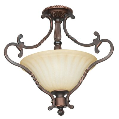 Graham 2-Light Semi-Flush Mount