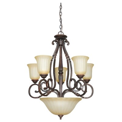Graham 8-Light Shaded Chandelier