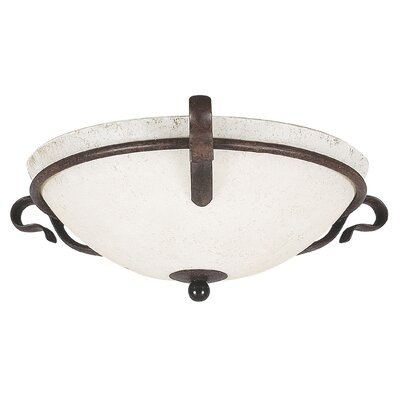 Westover 2-Light Flush Mount Color: Rubbed Bronze