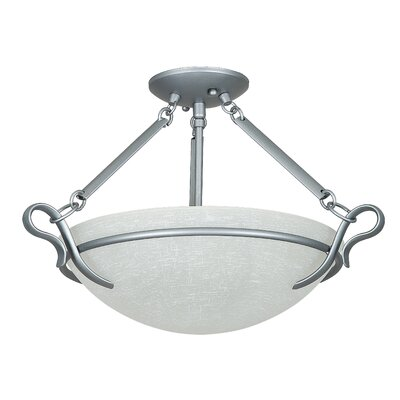 Westover 3-Light Semi-Flush Mount Color: Satin Nickel