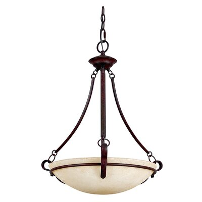 3-Light Bowl Pendant Finish: Rubbed Bronze
