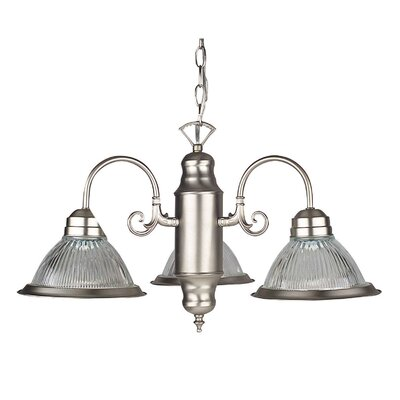 3-Light Shaded Chandelier Finish: Satin Nickel