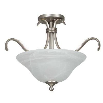 Santiago 2-Light Semi-Flush Mount Finish: Satin Nickel