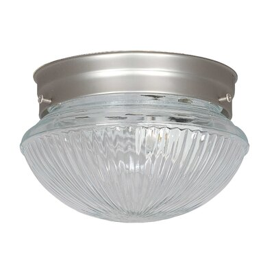 1-Light Flush Mount Finish: Satin Nickel