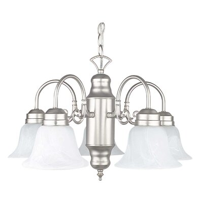 5-Light Shaded Chandelier
