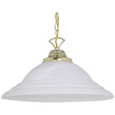 1-Light Inverted Pendant Finish: Polished Brass