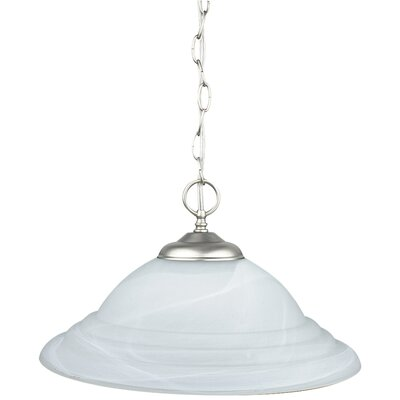 1-Light Inverted Pendant Finish: Satin Nickel