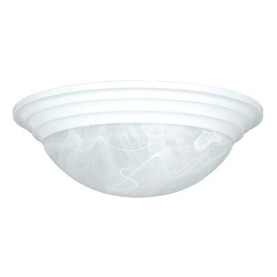 2-Light Flush Mount Finish: White, Size: 4 H x 12 W x 12 D