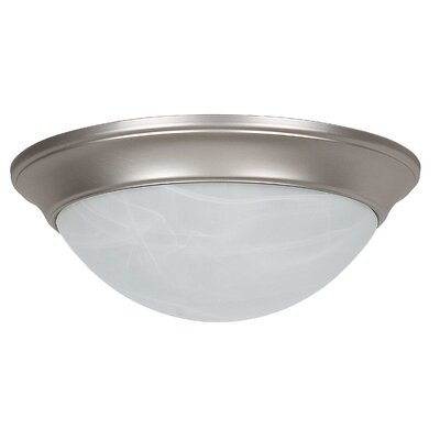 3-Light Twist-On Flush Mount Finish: Satin Nickel