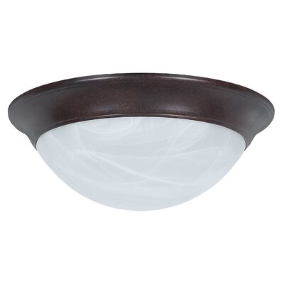 3-Light Twist-On Flush Mount Finish: Rubbed Bronze