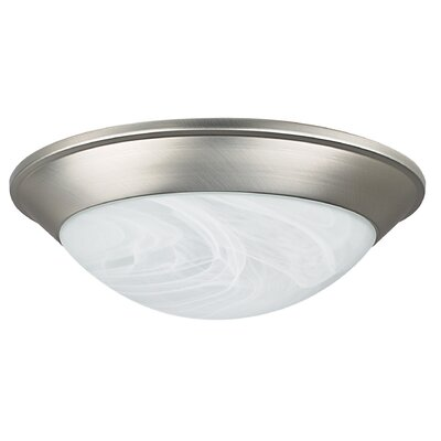 1-Light Twist-On Flush Mount Finish: Satin Nickel