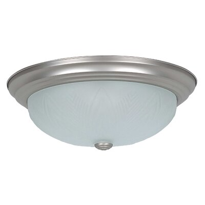 3-Light Flush Mount Glass Color: Frosted Feather
