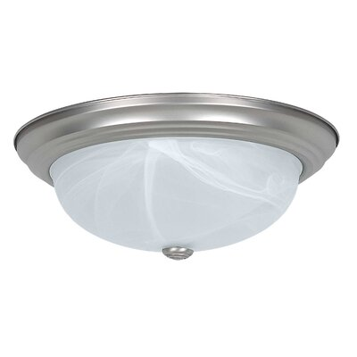 DeKalb 3-Light Flush Mount Finish: Satin Nickel