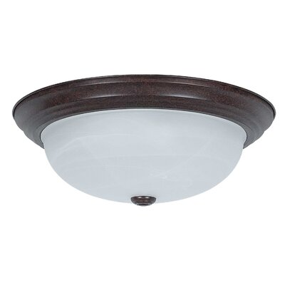 3-Light Flush Mount Glass Color: Faux Alabaster